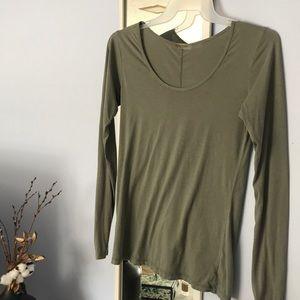 sage green long sleeve tee